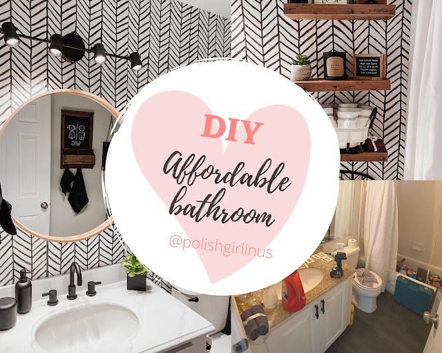 AFFORDABLE BATHROOM DIY