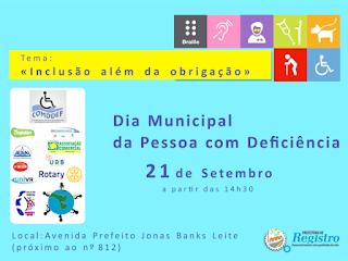 Registro-sp promove atividades no Dia Municipal da Pessoa com Deficiência