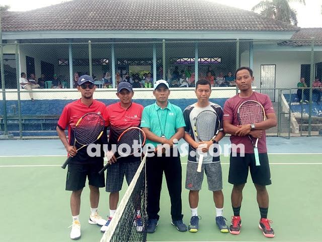 Tenis Pornas Korpri: Chrismayanto/Marhatap Kontra Ahmad Puryani/Adi Setiawan di Final Ganda Putra Bebas