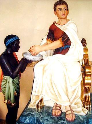 Foto de Poncio Pilato acompañado de un sirviente