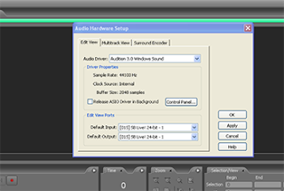 seting sound card di Adobe Audition