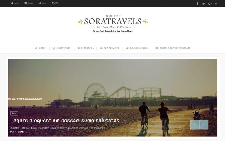 Responsive Travel Blogger Templates