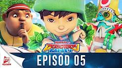 BoBoiBoy Galaxy Episode 5 - BoBoiBoy Daun VS Lanun