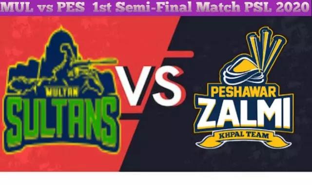Multan Sultans vs Peshawar Zalmi 1st Semi-Fina Today Match Prediction