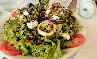 Mixed Greens with Candied Walnuts and Goat Cheese at Tapella by Robert Spakowski