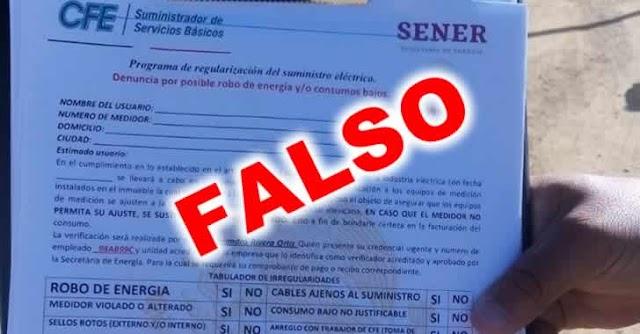 Alertan sobre extorsiones con documentos falsos de la CFE