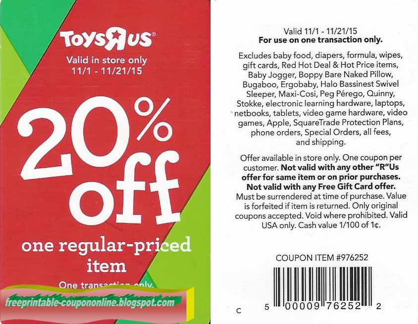 graphic about Toysrus Printable Coupons called Toys r us printable : Shots for december
