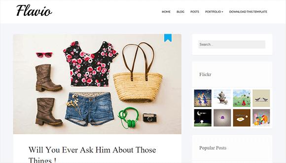 Flavio Responsive Kişisel Blogger Teması - Türkçe