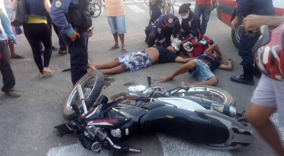 Acidentes de trânsito deixam 4 vítimas lesionadas em Russas