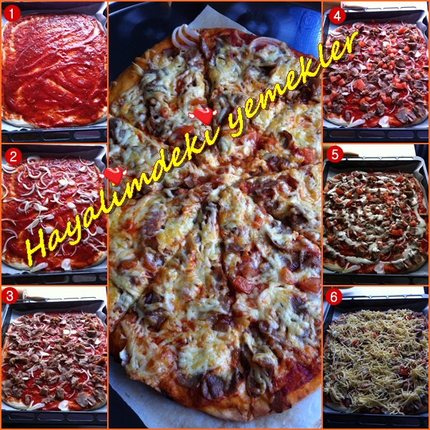 resimli pizza tarifleri,degisik denenmis lezzetli pizza tarifleri