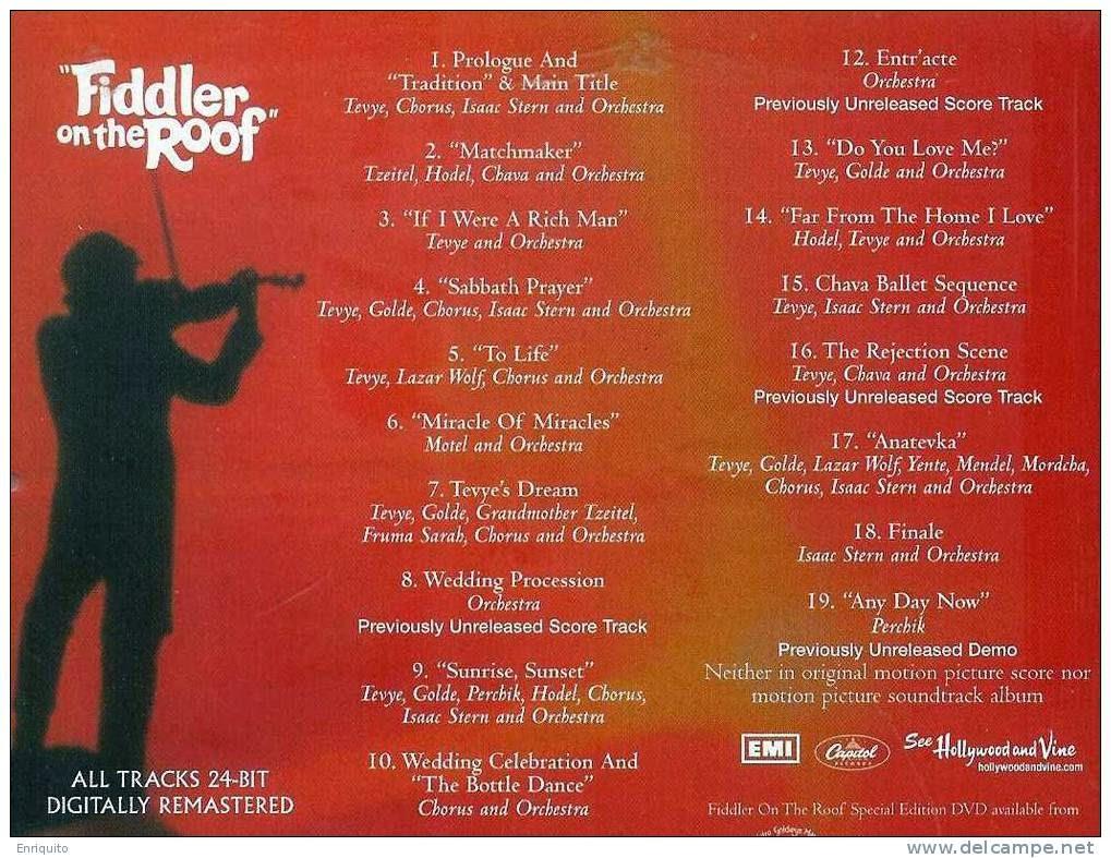 Fiddler On The Roof El Violinista En El Tejado M 250 Sica