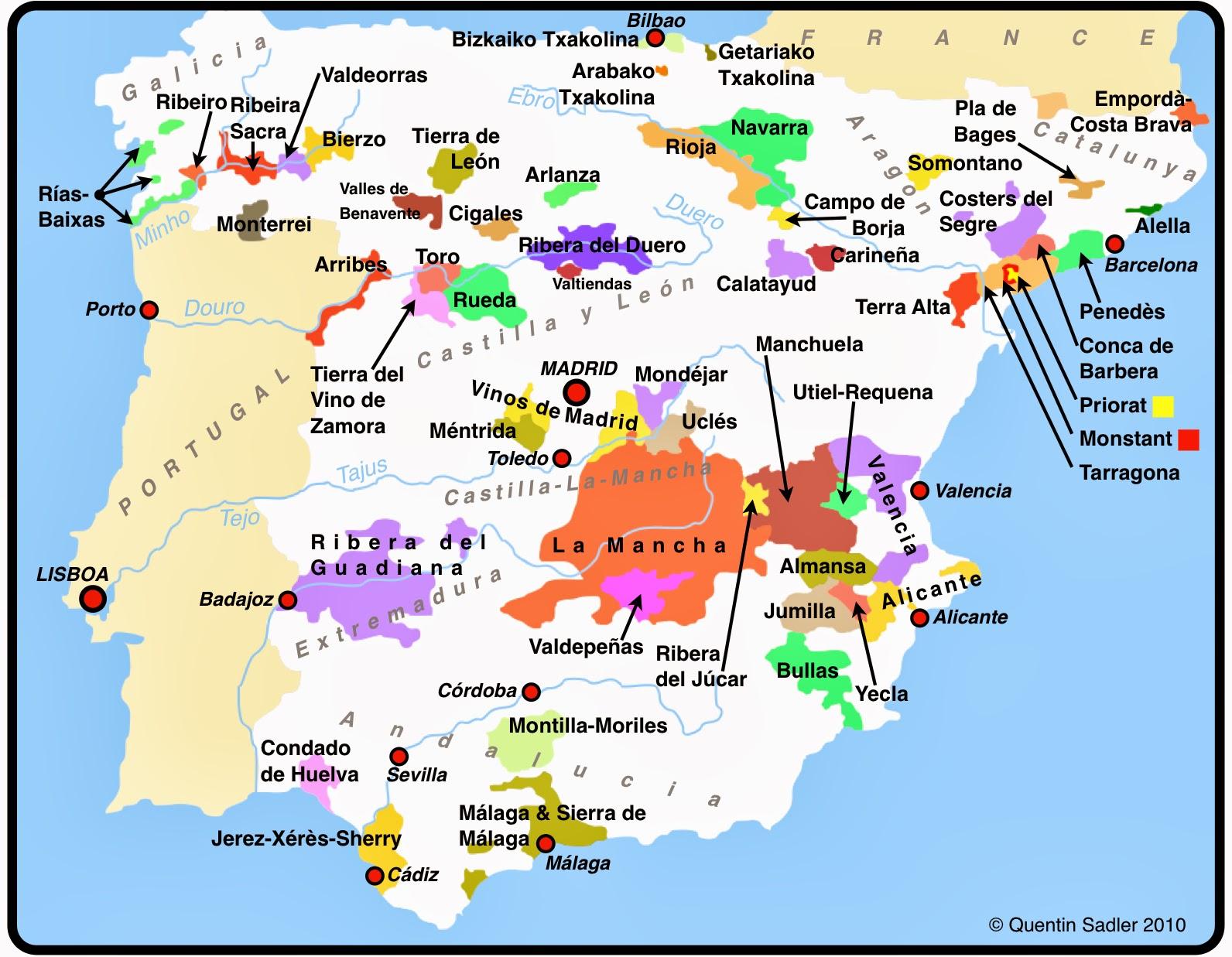 ver mapa de espanha In Vino Viajas : Rota do Vinho Ribeira Sacra, Galícia: turismo  ver mapa de espanha