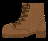 横から見た靴のイラスト(ブーツ)