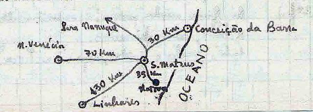 Mapa desenhado pelo autor.