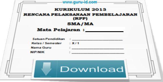 gambar download RPP Seni Budaya SMA Kurikulum 2013