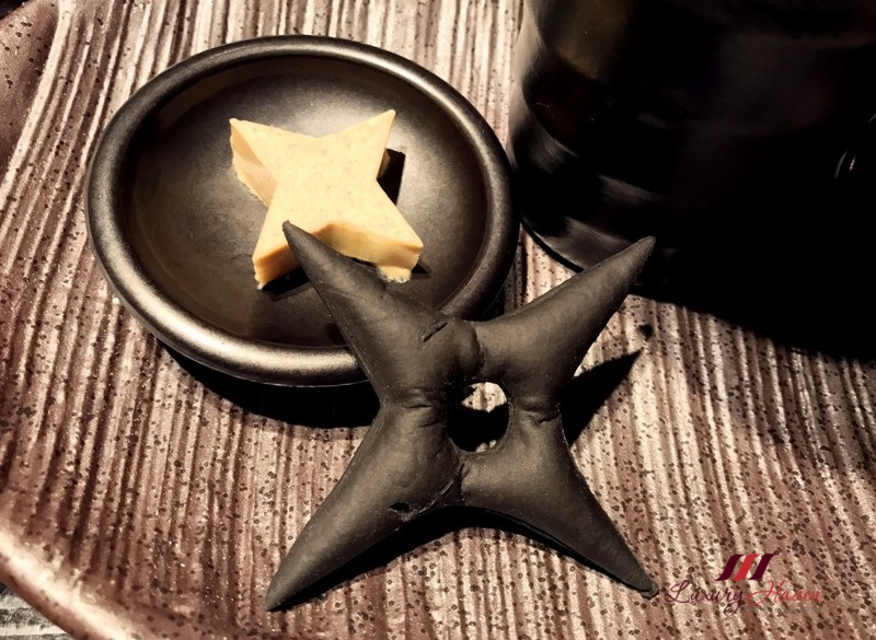 ninja akasaka shuriken star blades grissini foie gras