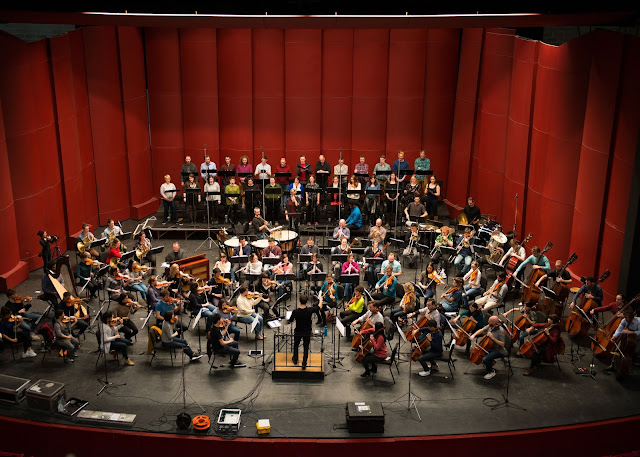 James Blachly and Experiential Orchestra and Chorus recording Ethel Smyth's The Prison in 2019