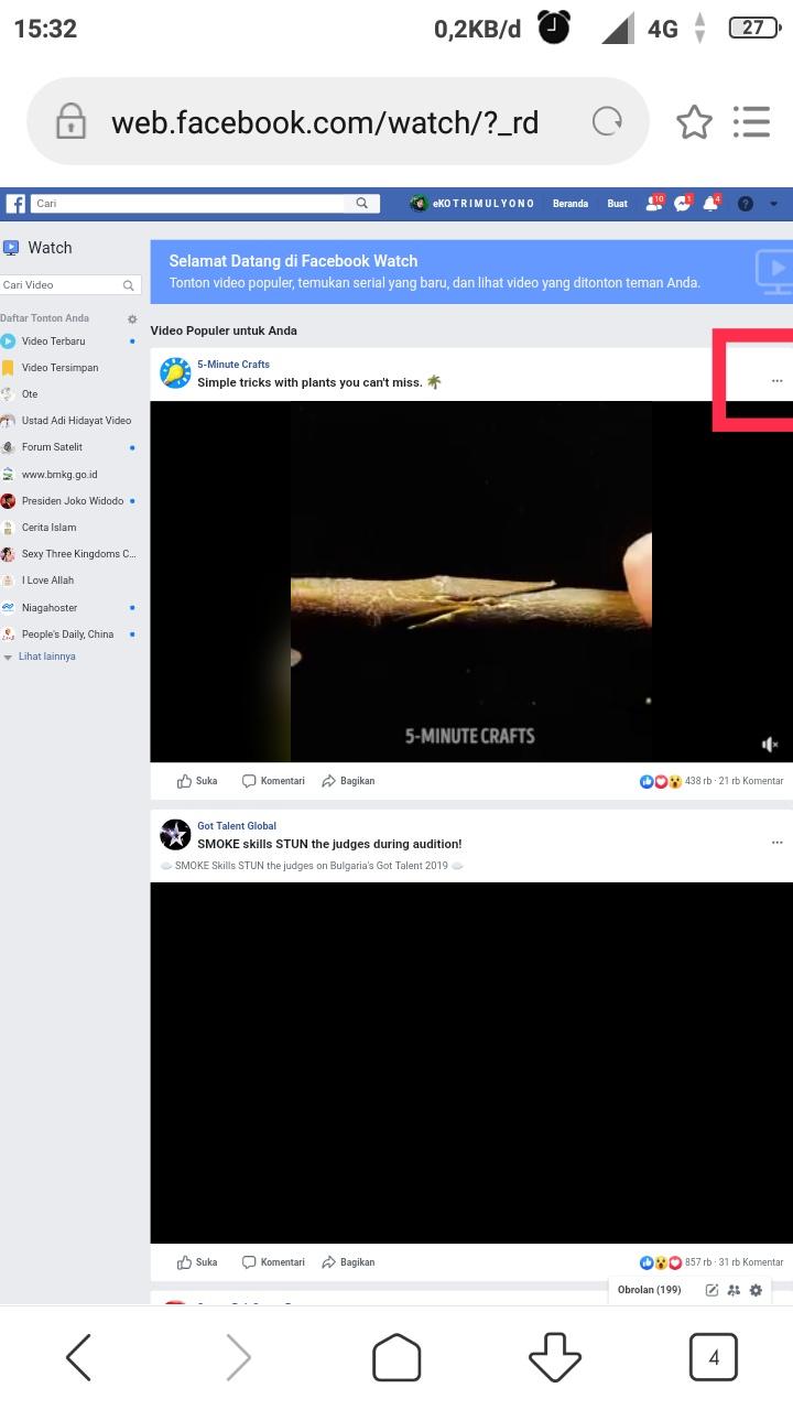Salin link facebook