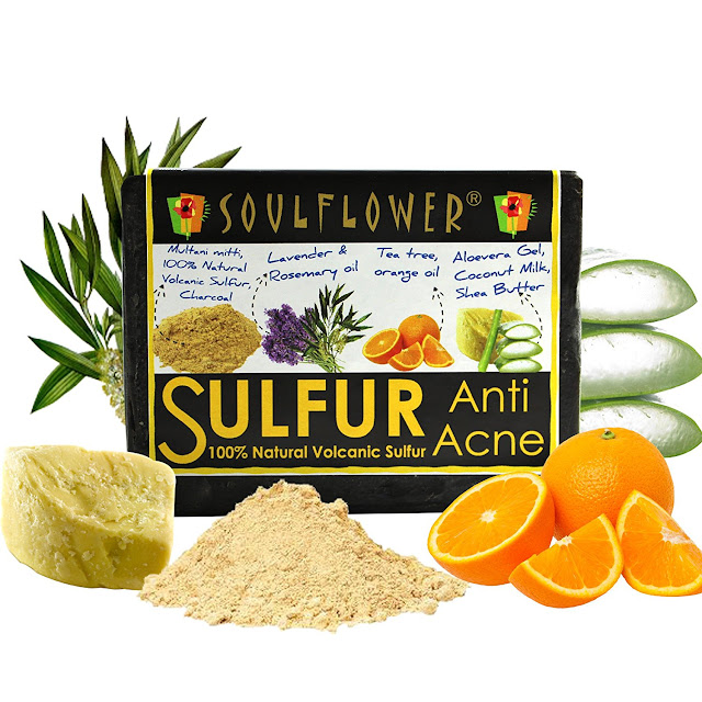 Bob And Lulu Review: SOULFLOWER ANTI-ACNE SULPHUR SOAP
