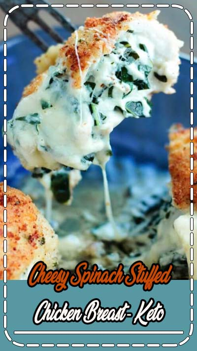Keto Cheesy Spinach Stuffed Chicken Breast by I Breathe I'm Hungry. Pin made by Overhead Pro. Ketogenic diet, healthy dinner recipes, easy chicken recipe, clean eating, easy keto recipes, tasty video recipe, video recipes cooking, stuffed chicken breast recipes, keto diet how to start.