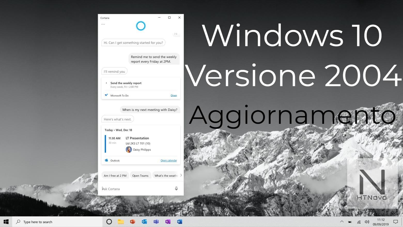 Tutto su Windows 10 Versione 2004