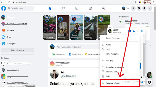 Cara Menghapus Semua Pesan Di FB Lite Dengan Cepat Tanpa Aplikasi