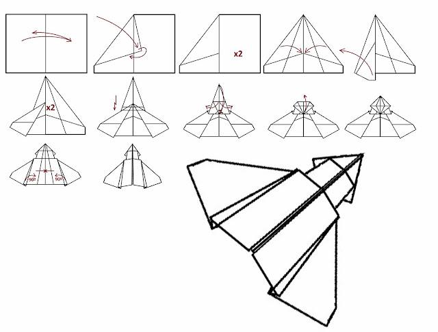 Avión de papel Wing 37