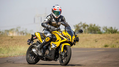 Bajaj Pulsar RS 200 Yellow HD Image