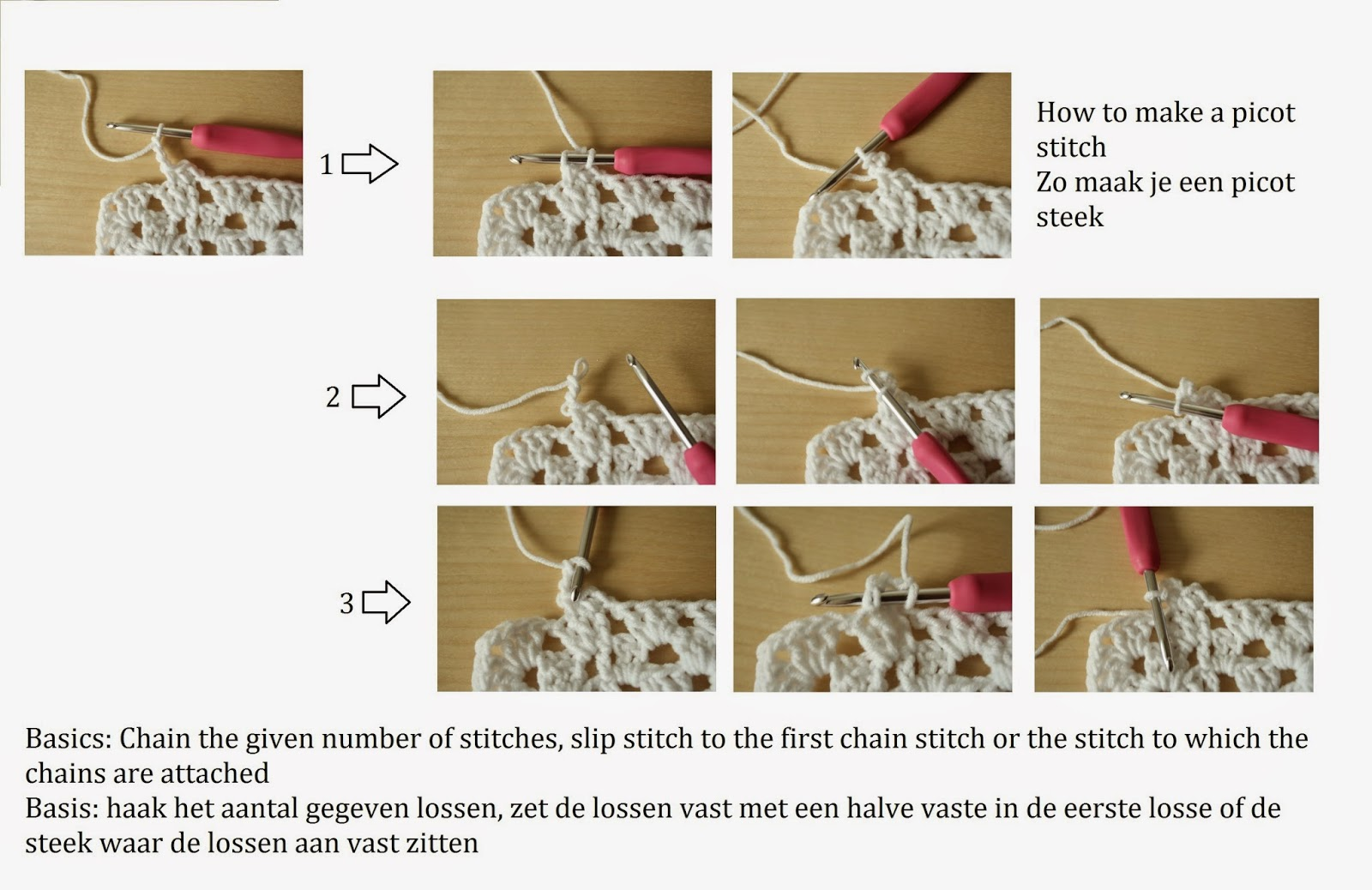 Busy Fingers Busy Life How To Picot Stitchpicootjes Maken