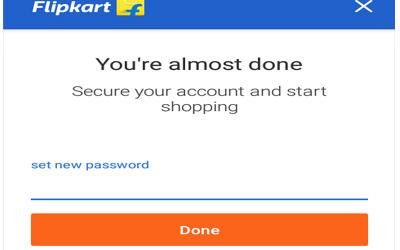 set anew password on flipkart account