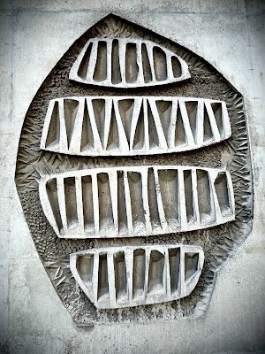 Concrete mural at Edinburgh University