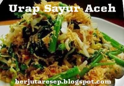 Resep Masakan Urap Sayur Aceh