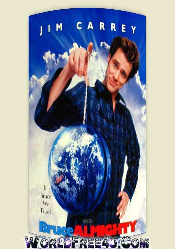 Poster Of Bruce Almighty (2003) Full Movie Hindi Dubbed Free Download Watch Online At worldfree4u.com