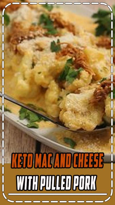 A simple keto mac and cheese with pulled pork is sure to be a winning dinner. And, it's a quick recipe that repurposes leftovers from a previous meal. // low carb mac and cheese // healthy mac and cheese // low carb dinner recipes // dinners low carb // low carb recipes dinner // keto dinner recipe // keto dinner easy // keto recipes // #macandcheese #ketomealplan #ketodinner #lowcarbrecipes #lowcarbdinner #glutenfree #glutenfreedinner