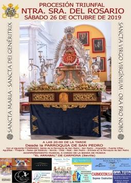 Horario e Itinerario de la Procesión de Nuestra Señora del Rosario de Carmona