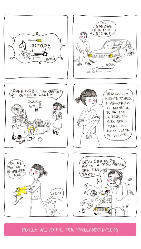Paroladordine i ghirigori di Monila garage vignette