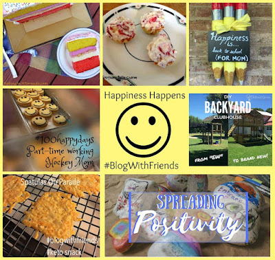 Blog With Friends, multi-blogger projects based on a theme. August 2017 theme is Happiness Happens | Featured on www.BakingInATornado.com | #recipe #diy