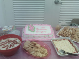 cake,bocaditos,chicken salad,macaroni salad,cuban party