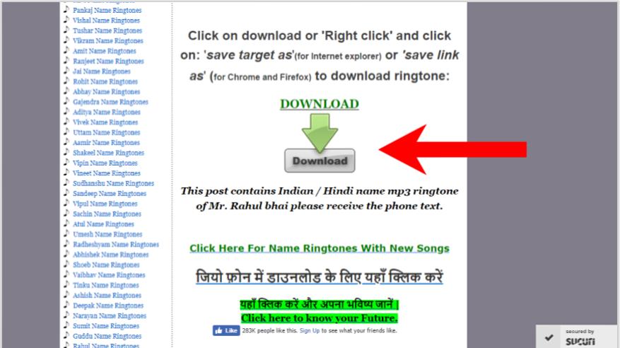 ringtone download karna hai song