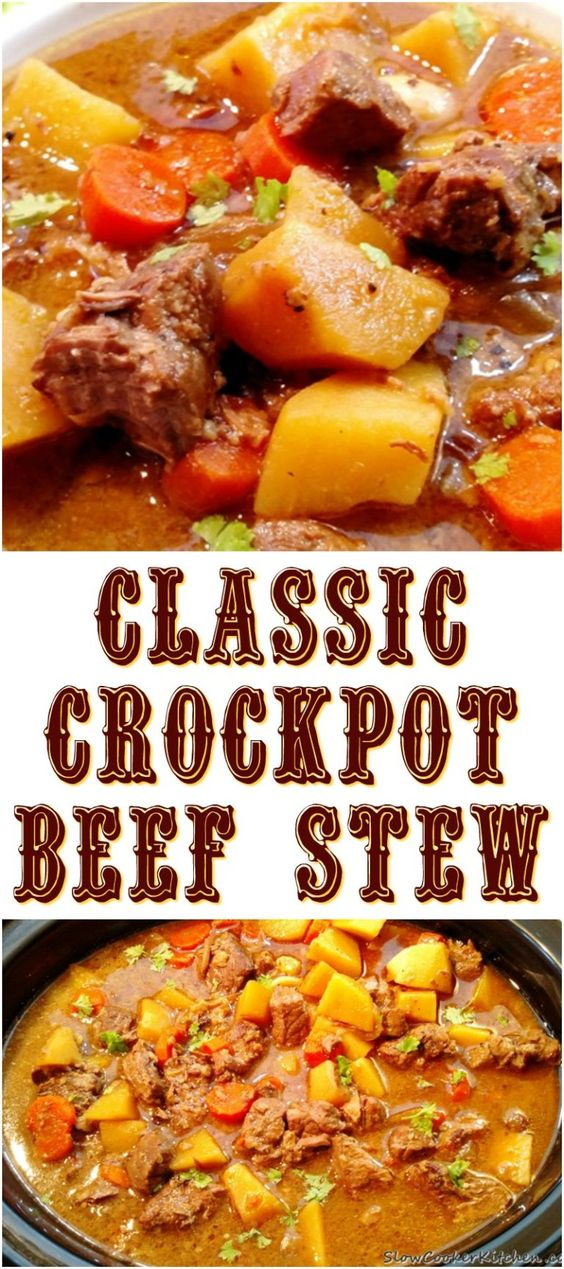 BEST CLASSIC CROCK POT BEEF STEW