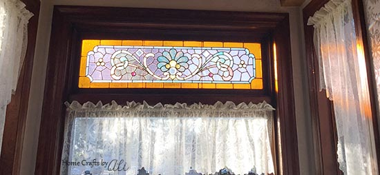 Pretty Stained Glass at Hines Mansion Bed and Breakfast