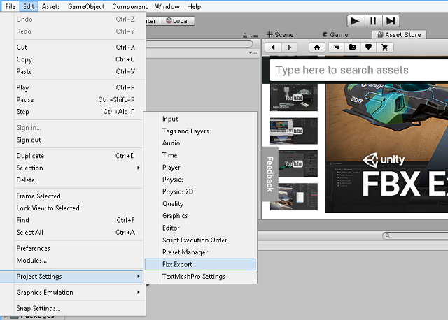 graphics: Unity 3D : FBX Exporter asset
