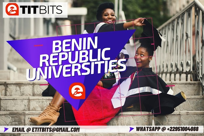 BENIN REPUBLIC UNIVERSITIES 2021