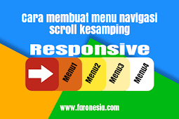 Cara membuat menu navigasi scroll horizontal