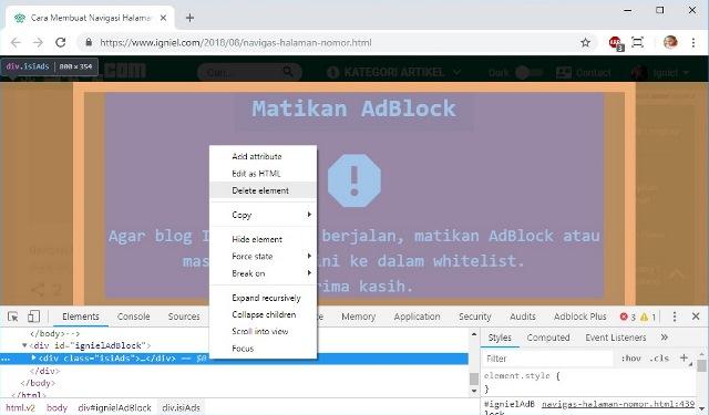 cara lewati script anti adblock plus