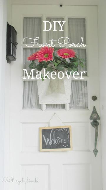 Hillary chybinski diy front porch makeover diy front porch makeover solutioingenieria Images