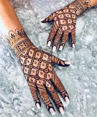 Contoh henna pengantin yang simple