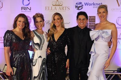 Elaine Mickely, Keila Jimenez, Ticiane Pinheiro, Cesar Filho e Ana Hickmann - Crédito: Antonio Chahestian/ Record TV