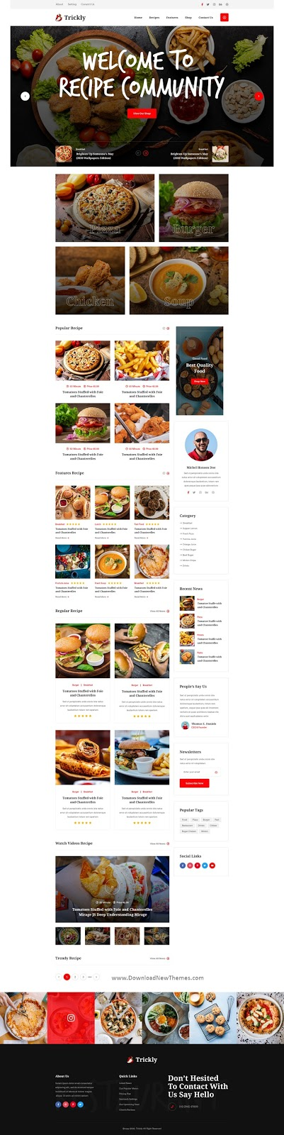 Food Recipe Template