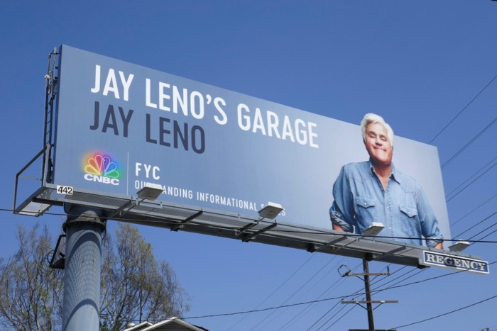 Jay Lenos Garage 2019 Emmy consideration billboard